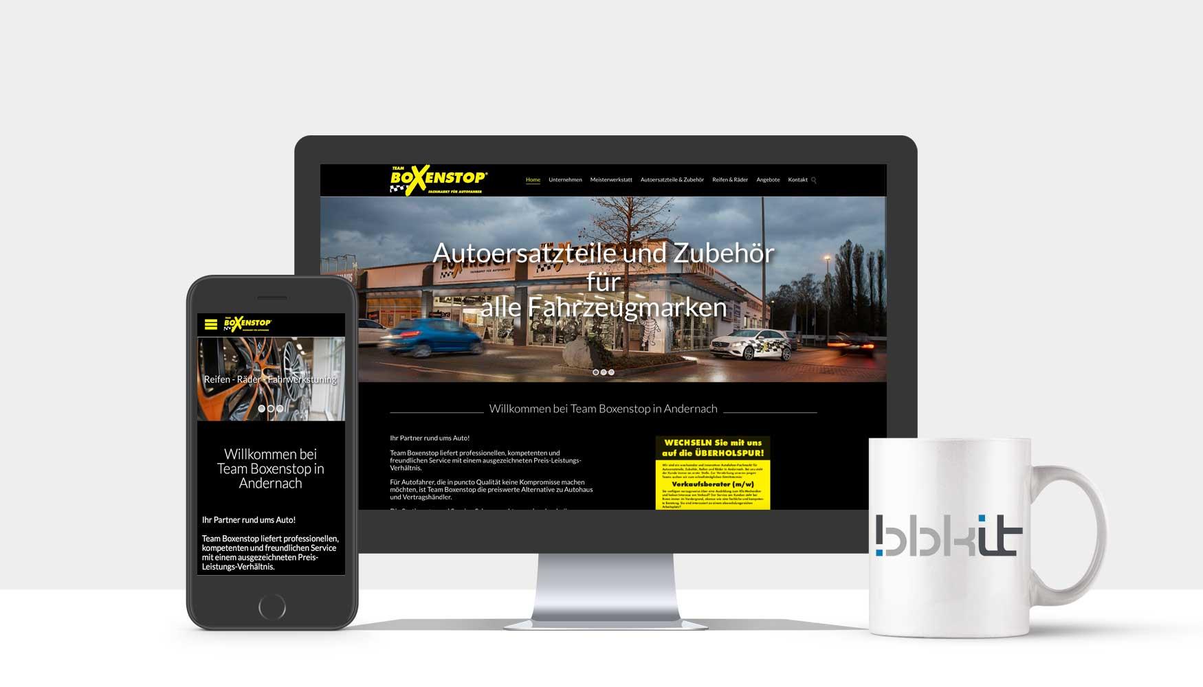 Webdesign Andernach - Team Boxenstop