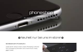 phoneshop webdesign