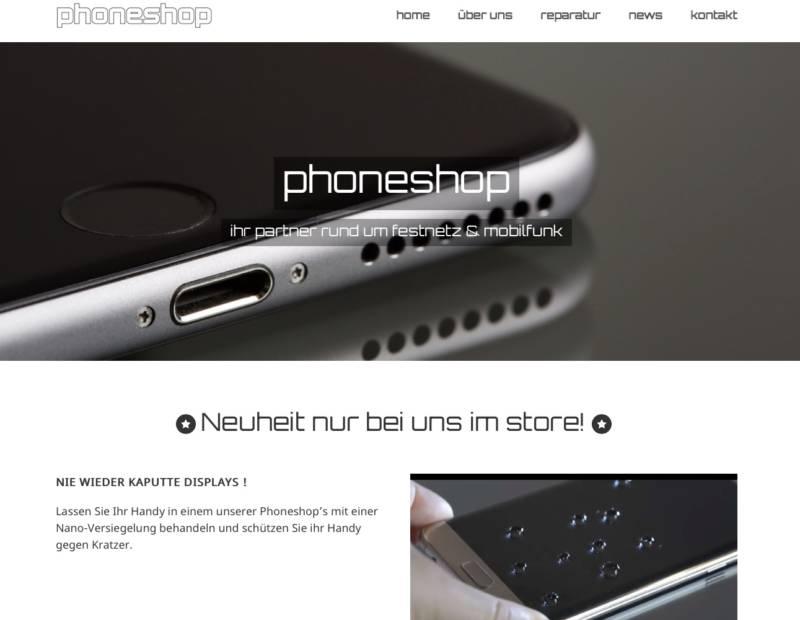 phoneshop webdesign